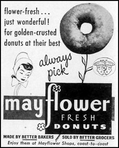 MAYFLOWER DONUTS LIFE 11/15/1948 p. 142