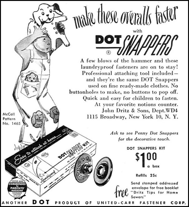 DOT SNAPPERS WOMAN'S DAY 04/01/1949 p. 121