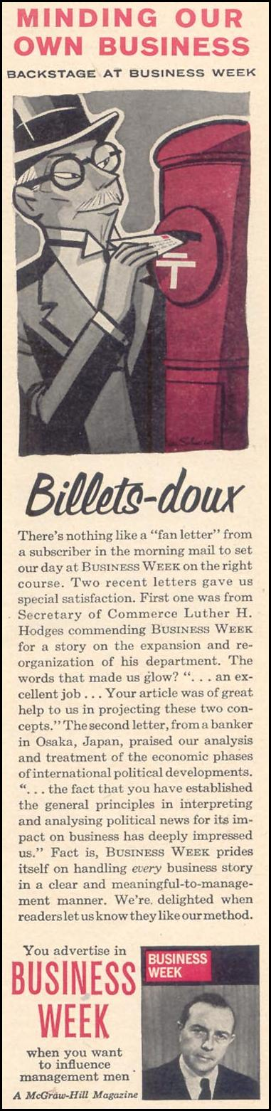 BUSINESS WEEK MAGAZINE TIME 02/23/1962 p. 83