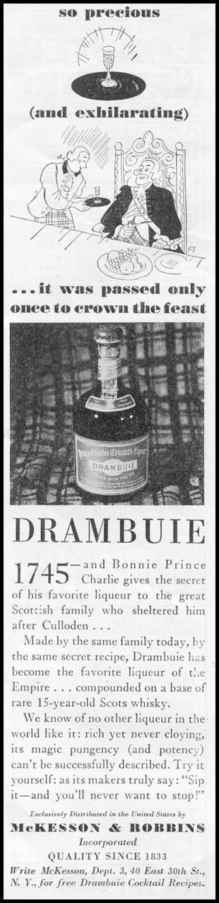 DRAMBUIE NEWSWEEK 05/04/1935 p. 35