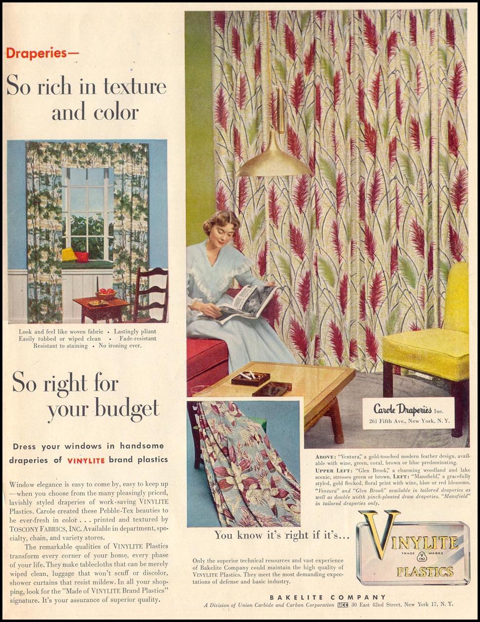 BAKELITE VINYLITE PLASTICS LIFE 04/13/1953 p. 179