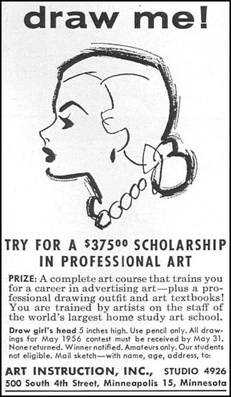 PROFESSIONAL ART TRAINING WOMAN'S DAY 04/01/1956 p. 110