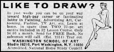 CORRESPONDENCE ART SCHOOL GOOD HOUSEKEEPING 10/01/1965 p. 270