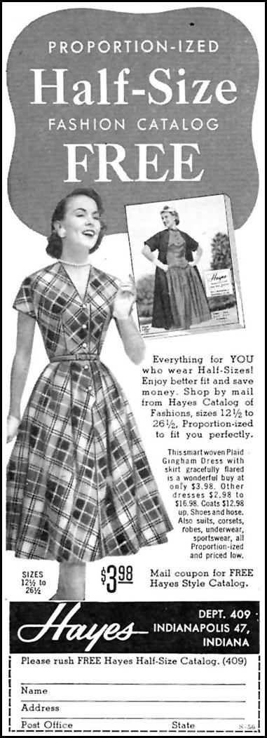 HAYES STYLE CATALOG FAMILY CIRCLE 02/01/1956 p. 88
