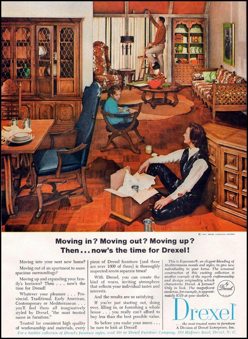 DREXEL FURNITURE GOOD HOUSEKEEPING 10/01/1965 P. 189