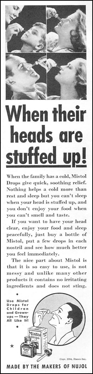 MISTOL DROPS GOOD HOUSEKEEPING 12/01/1934 p. 149