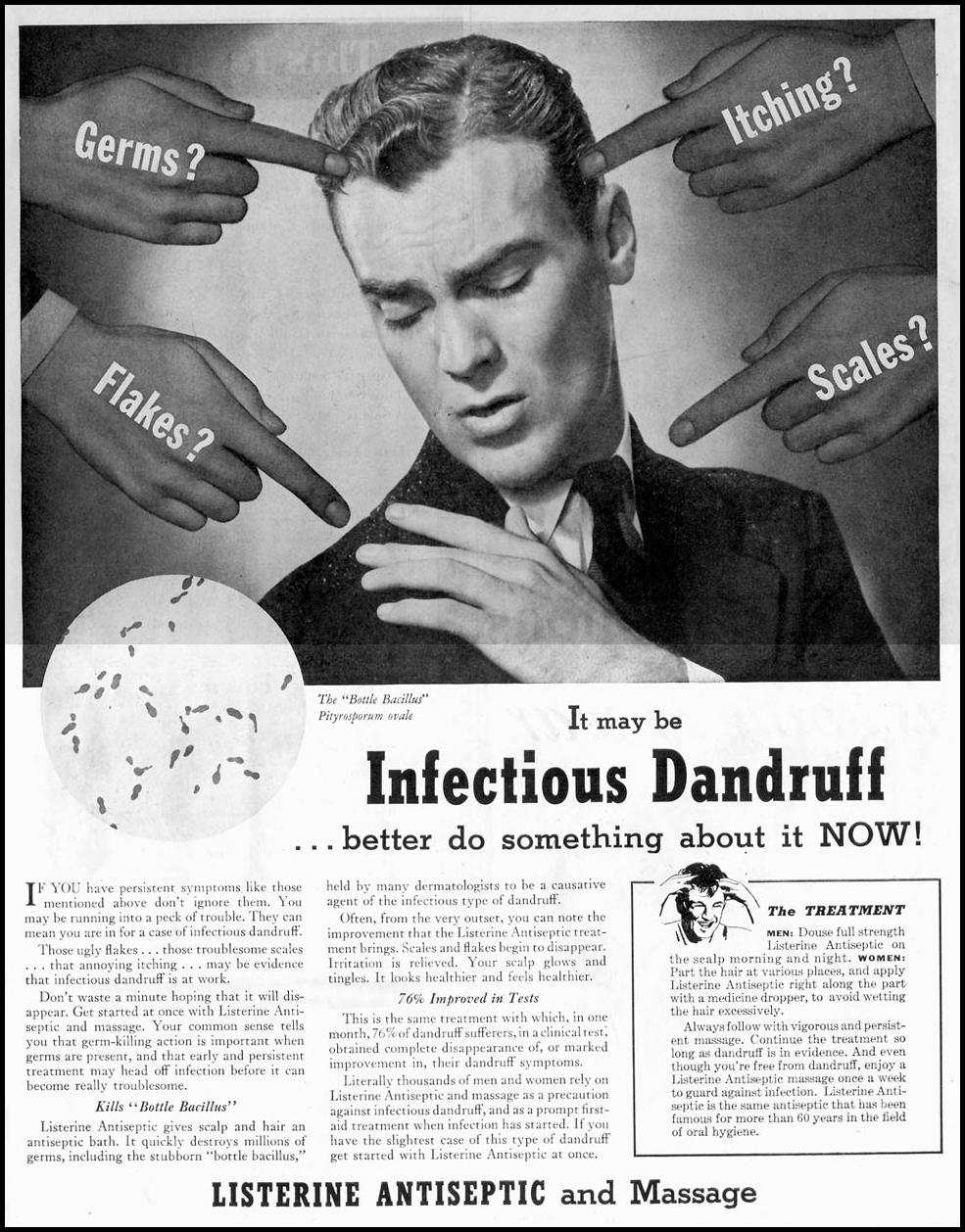 LISTERINE ANTISEPTIC SATURDAY EVENING POST 05/19/1945 p. 1