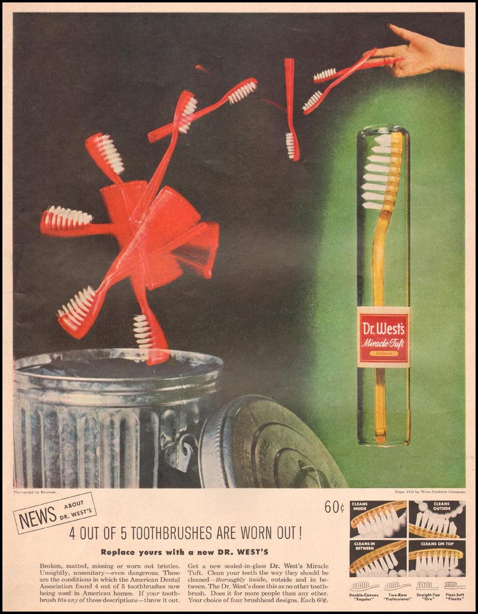 DR. WEST'S MIRACLE-TUFT TOOTHBRUSH LIFE 09/03/1951 p. 39
