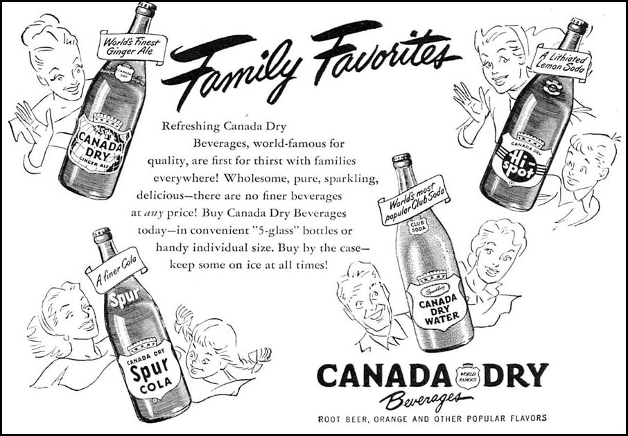 CANADA DRY BEVERAGES WOMAN'S DAY 09/01/1949 p. 99
