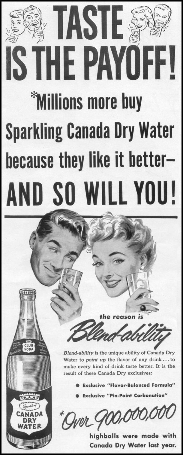 CANADA DRY WATER LIFE 10/13/1952 p. 146
