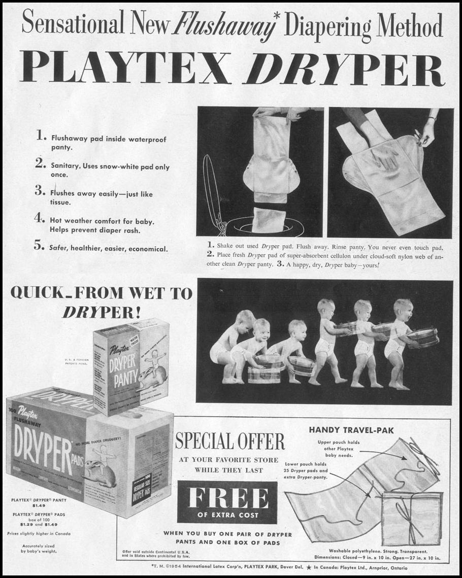 PLAYTEX DRYPERS LIFE 07/12/1954 p. 67