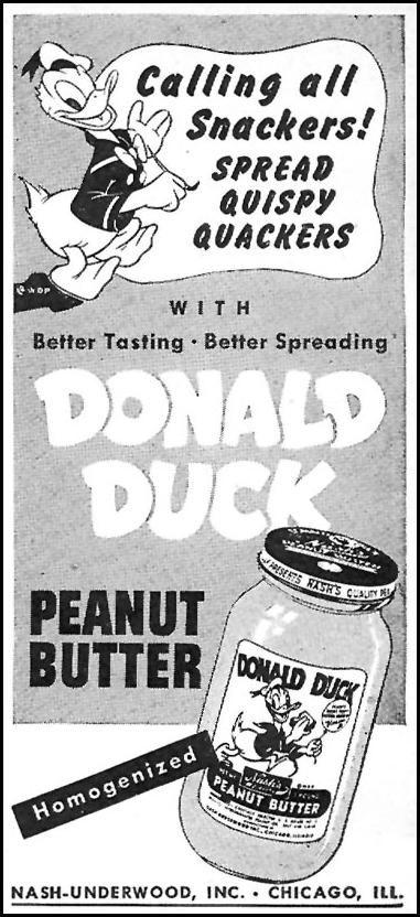 DONALD DUCK PEANUT BUTTER WOMAN'S DAY 05/01/1946 p. 82