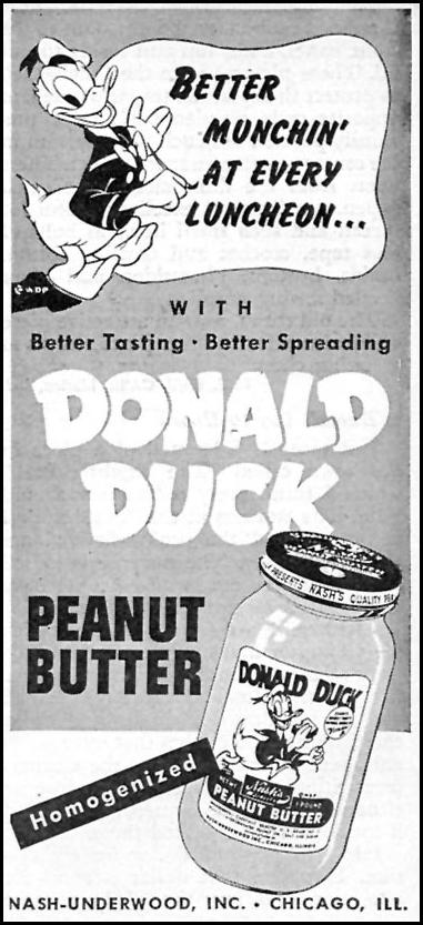 DONALD DUCK PEANUT BUTTER WOMAN'S DAY 10/01/1946 p. 104