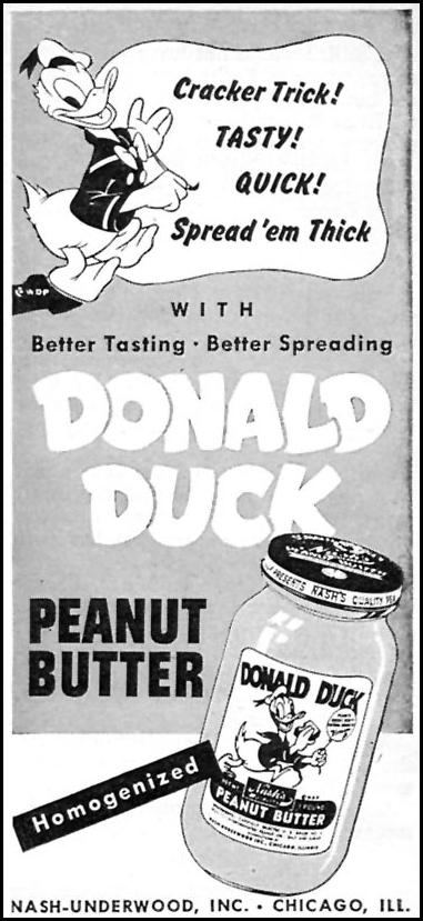 DONALD DUCK PEANUT BUTTER WOMAN'S DAY 11/01/1946 p. 94