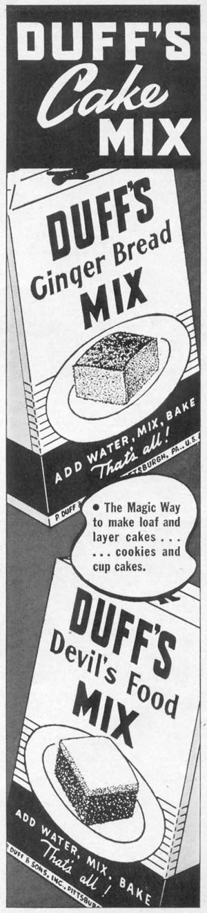 DUFF'S CAKE MIX WOMAN'S DAY 06/01/1941 p. 51