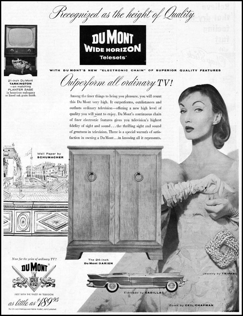 DU MONT WIDE HORIZON TELESETS SATURDAY EVENING POST 10/29/1955 p. 89