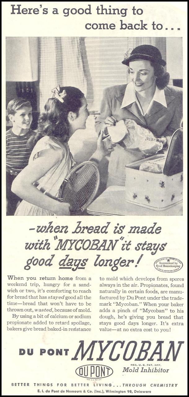 DU PONT MYCOBAN MOLD INHIBITOR GOOD HOUSEKEEPING 07/01/1948 p. 129