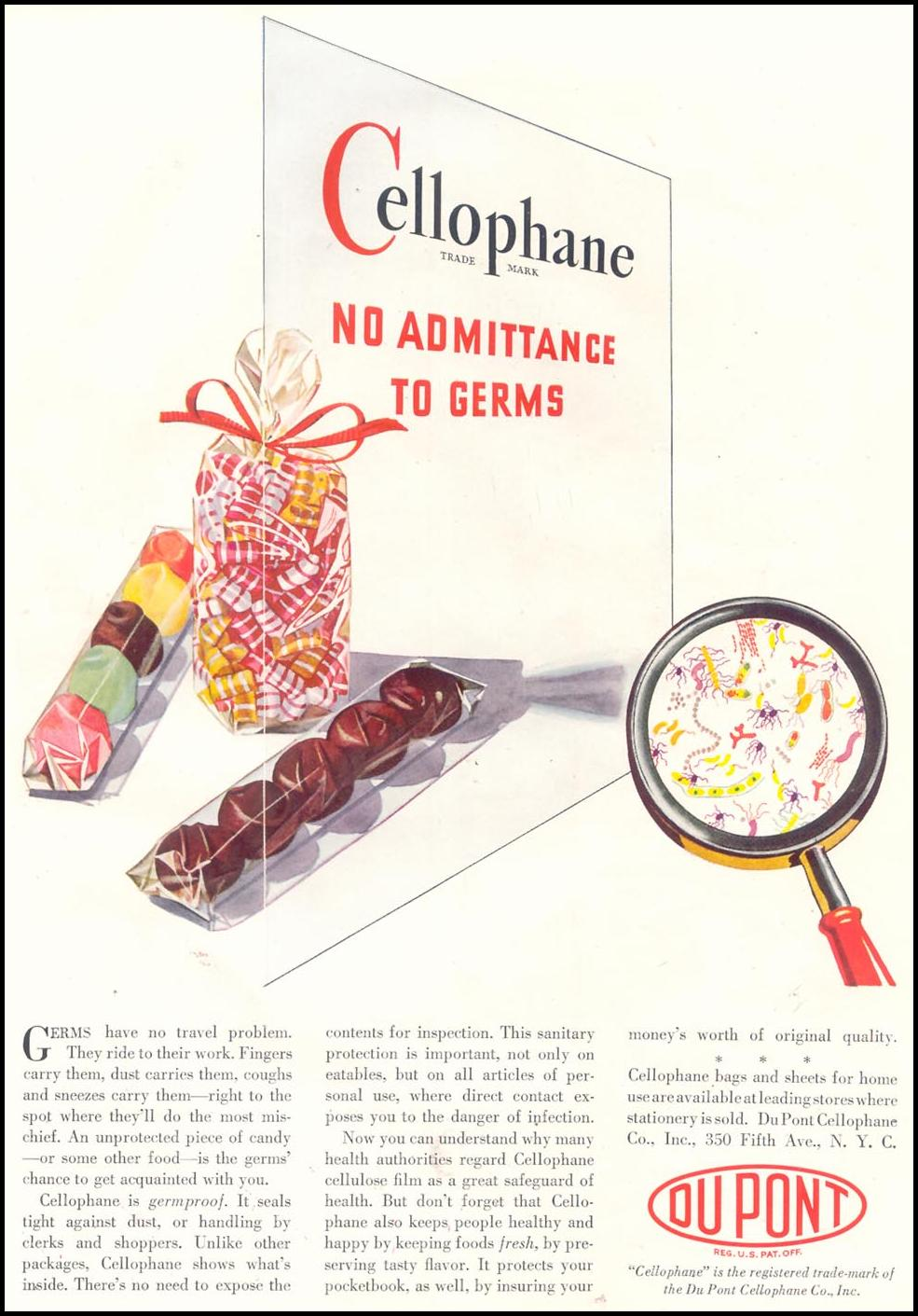 DU PONT CELLOPHANE GOOD HOUSEKEEPING 11/01/1933