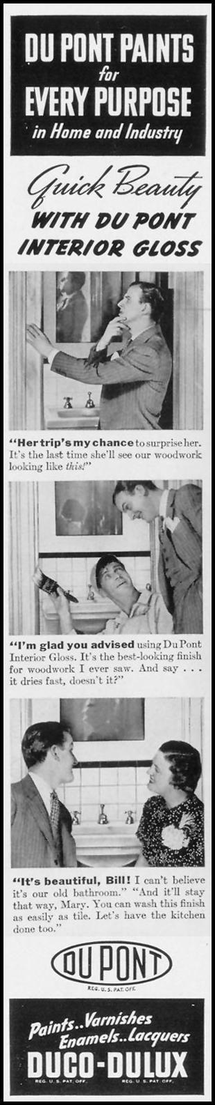 DU PONT DUCO-DULUX PAINTS LIFE 09/27/1937 p. 10