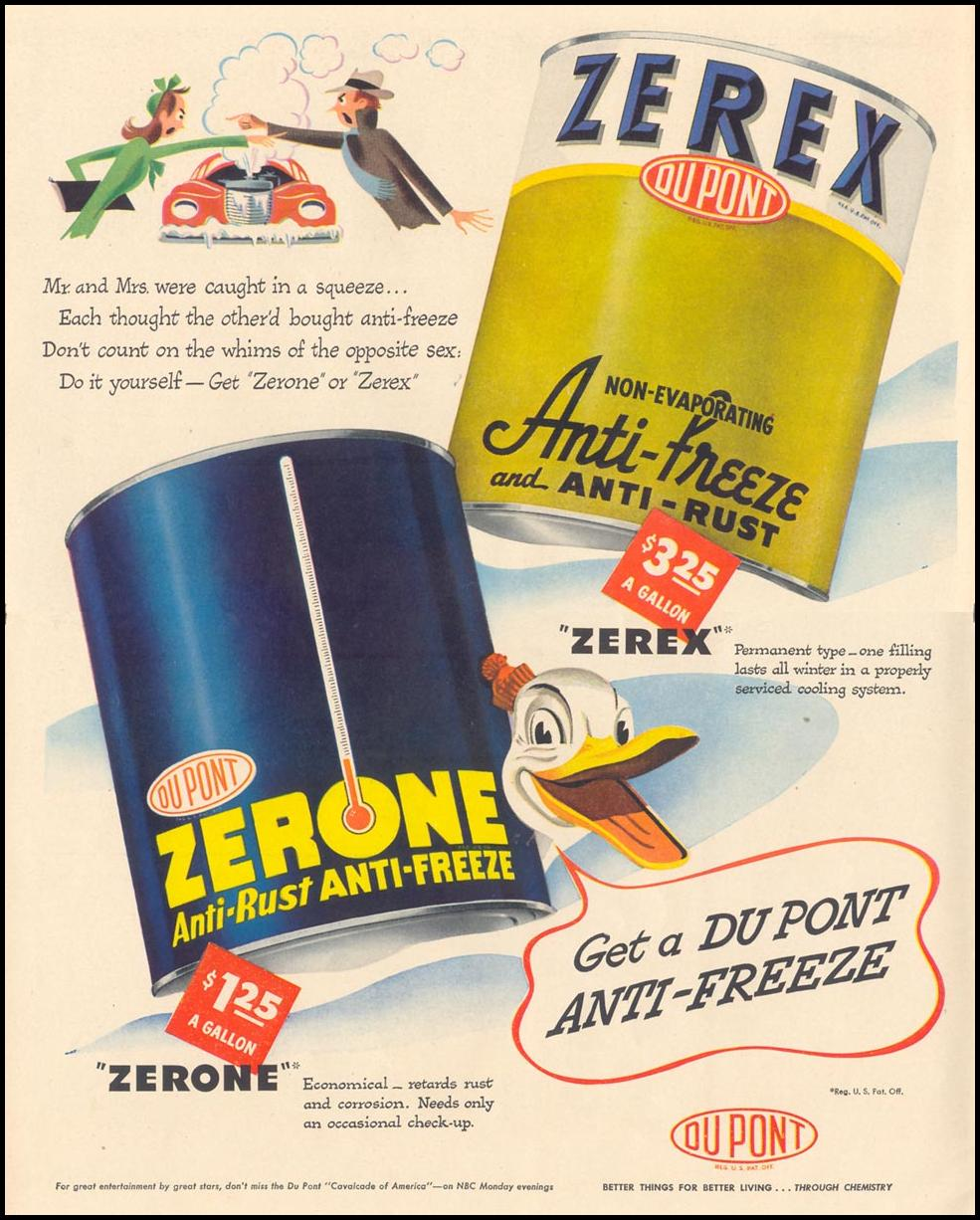 DU PONT ZEREX AND ZERONE ANTI-FREEZE LIFE 11/15/1948