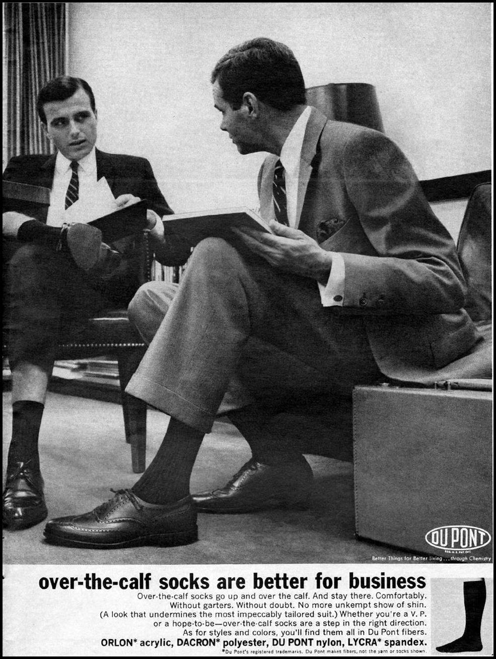 DU PONT ARTIFICIAL FIBERS NEWSWEEK 10/12/1964 p. 13