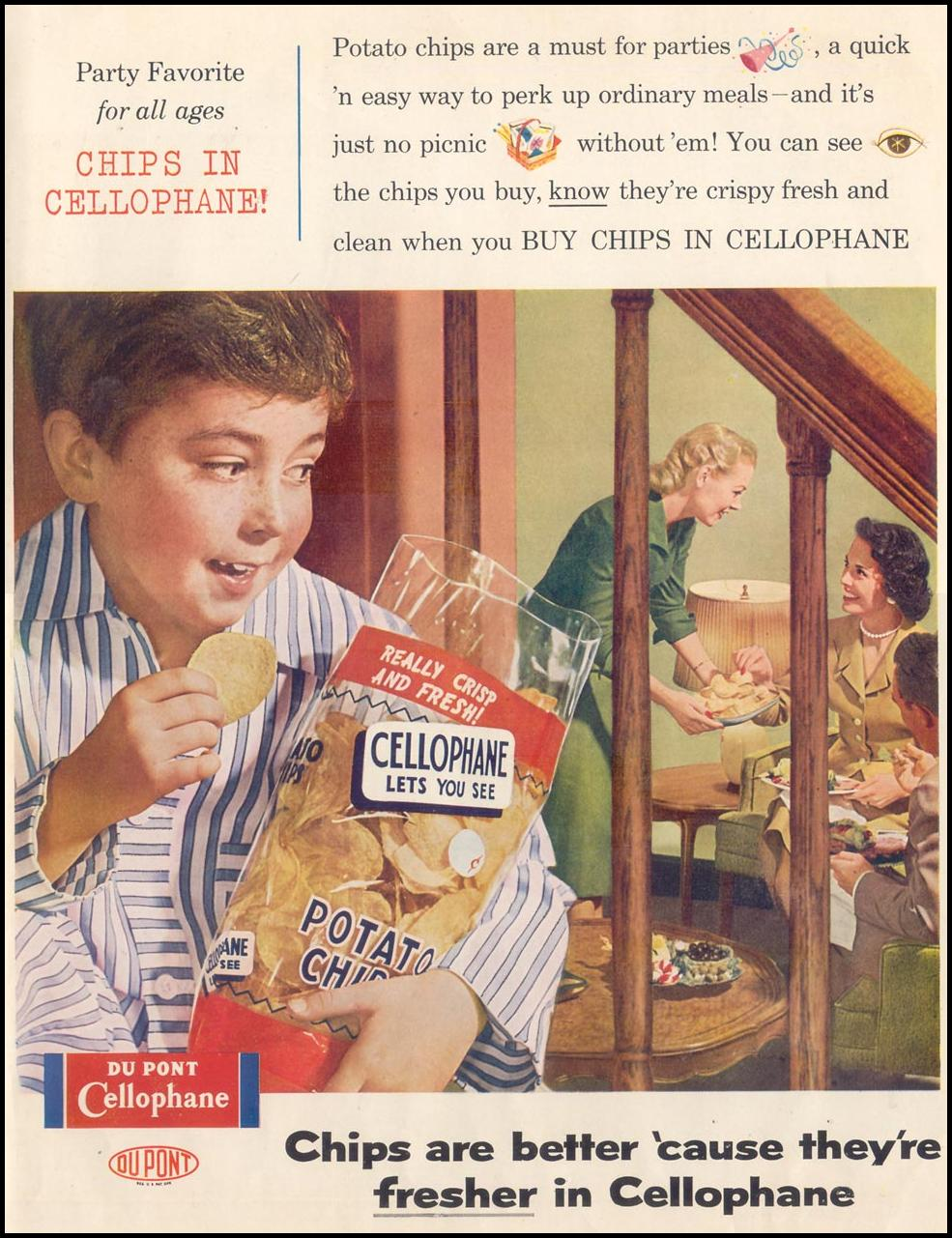 DU PONT CELLOPHANE SATURDAY EVENING POST 06/04/1955 INSIDE BACK