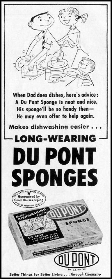 DU PONT SPONGES SATURDAY EVENING POST 07/23/1955 p. 75