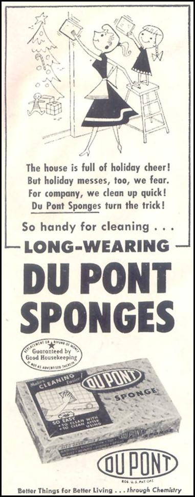 DU PONT SPONGES SATURDAY EVENING POST 12/10/1955 p. 78