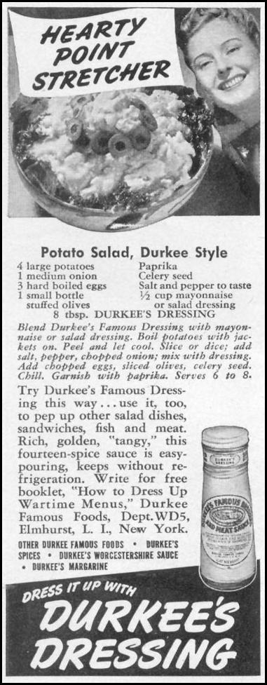 DURKEE'S DRESSING WOMAN'S DAY 05/01/1943 p. 64