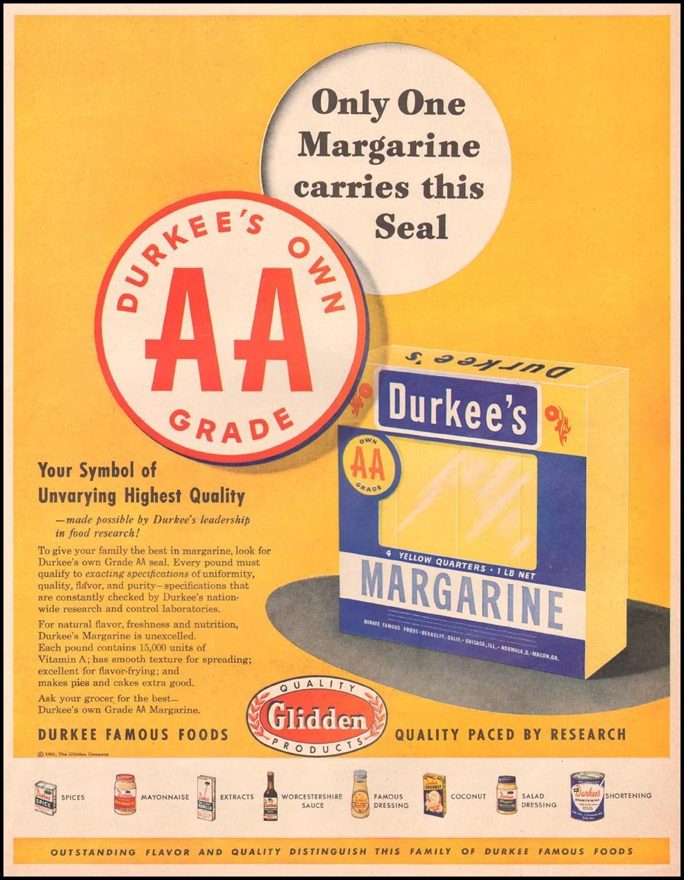 DURKEE'S MARGARINE LIFE 04/30/1951 p. 59