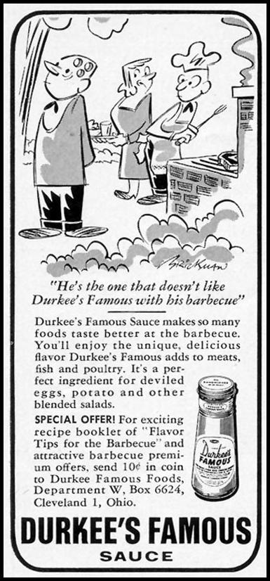 DURKEE'S FAMOUS SAUCE WOMAN'S DAY 07/01/1955 p. 121