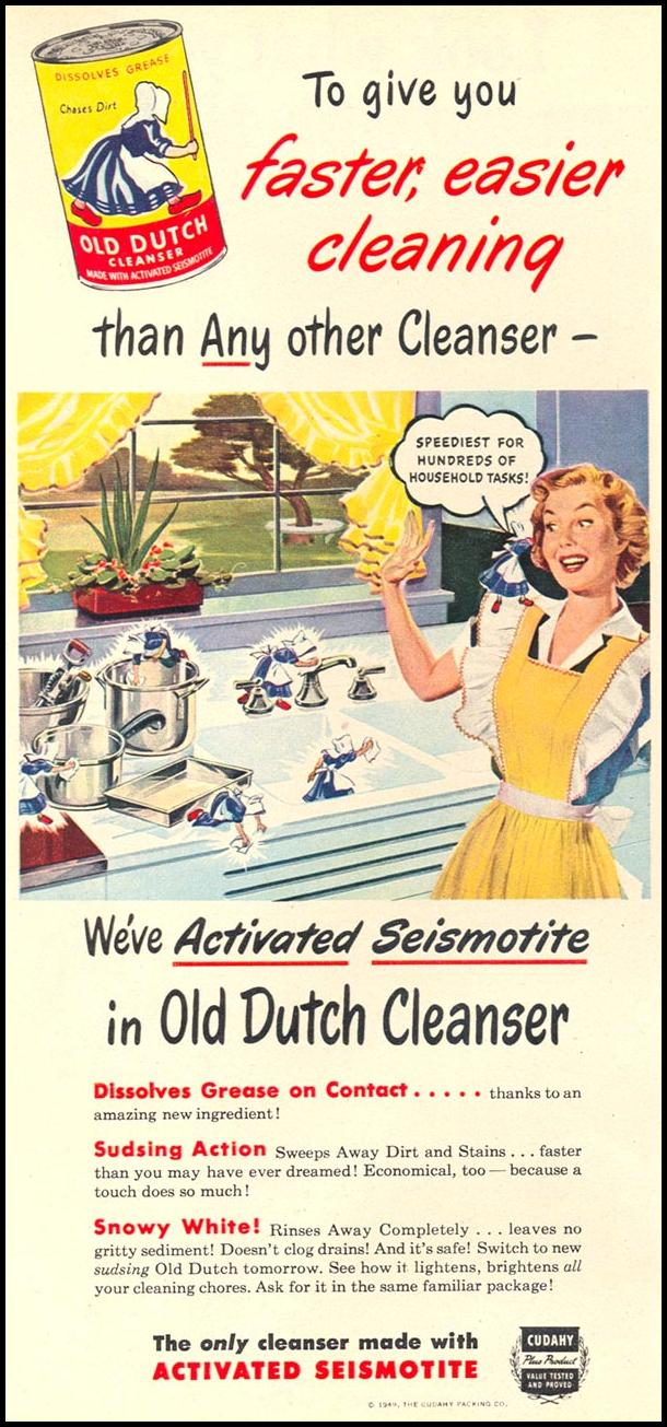 OLD DUTCH CLEANSER WOMAN'S DAY 10/01/1949