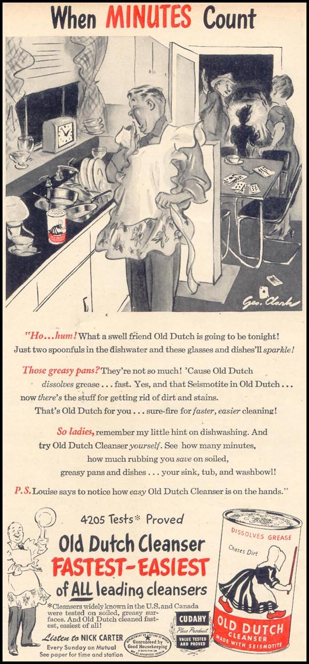 OLD DUTCH CLEANSER WOMAN'S DAY 02/01/1947 p. 73
