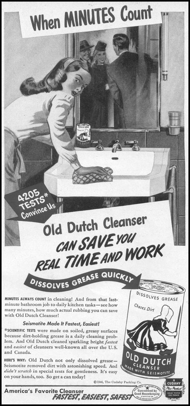 OLD DUTCH CLEANSER WOMAN'S DAY 06/01/1946 p. 61