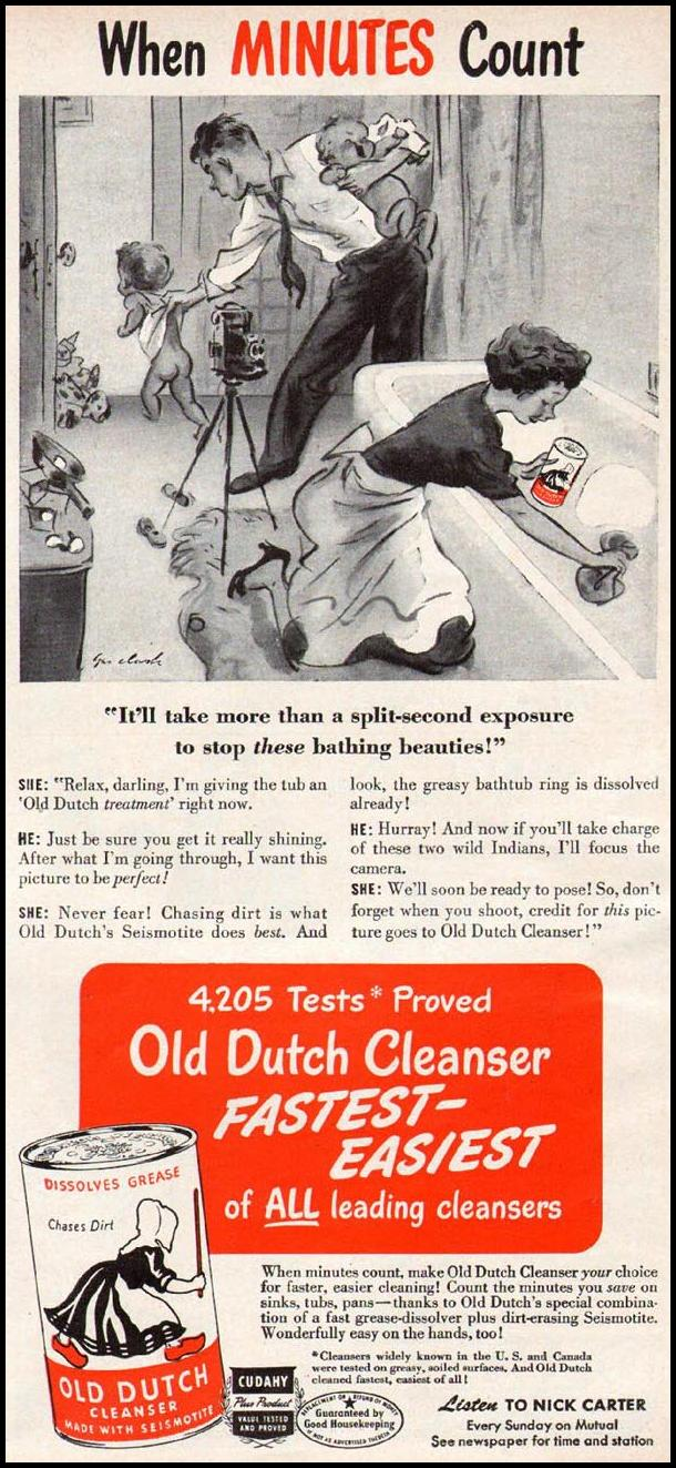 OLD DUTCH CLEANSER WOMAN'S DAY 06/01/1947 p. 87