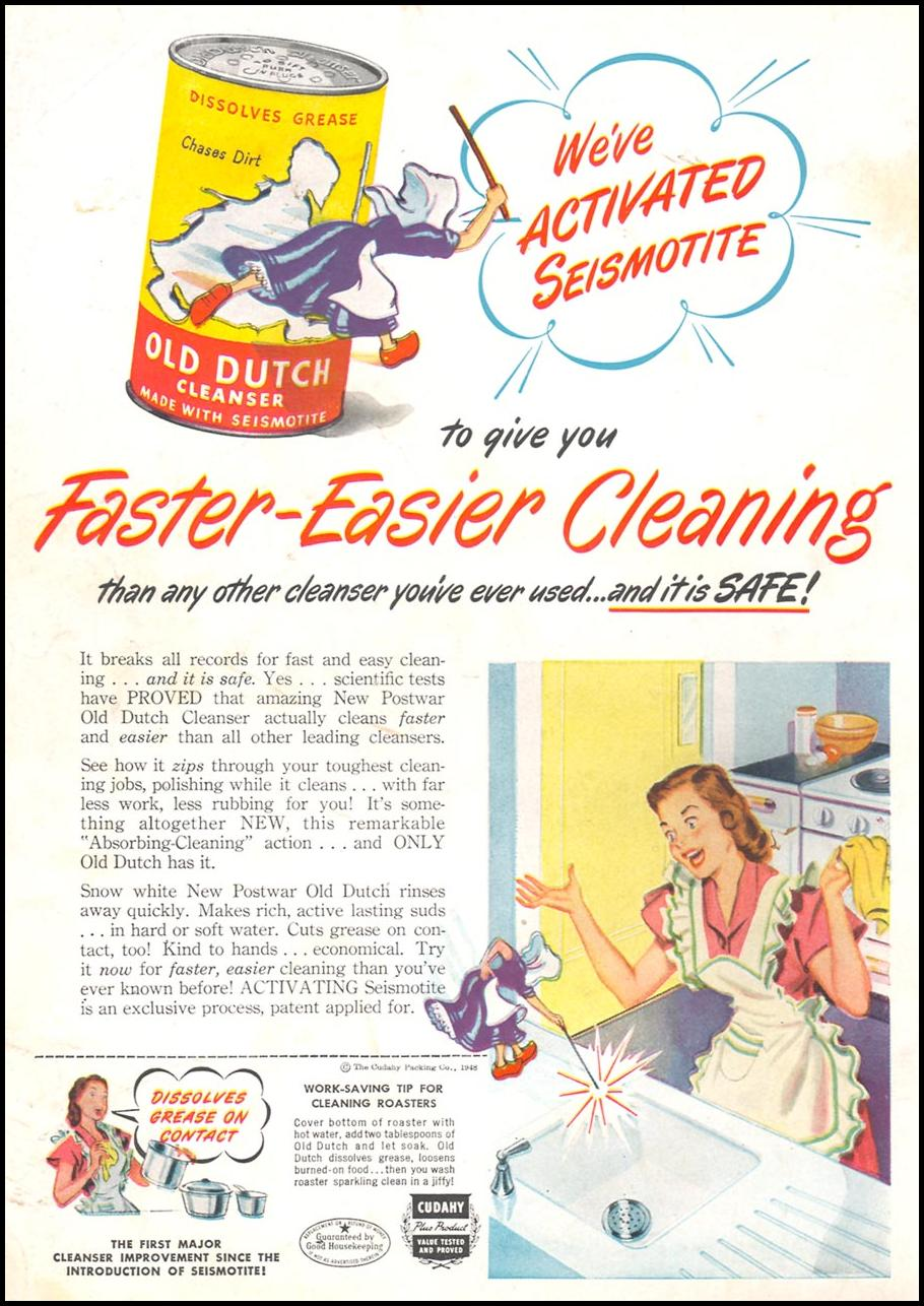 OLD DUTCH CLEANSER WOMAN'S DAY 09/01/1948 BACK COVER