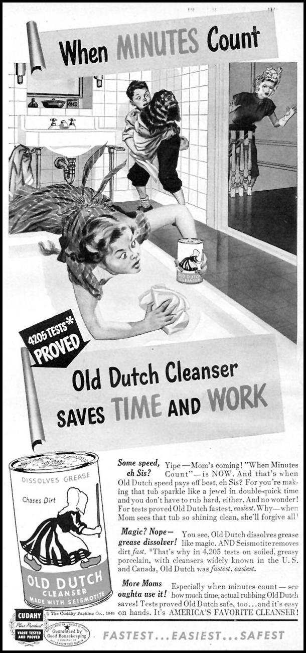OLD DUTCH CLEANSER WOMAN'S DAY 10/01/1946 p. 63