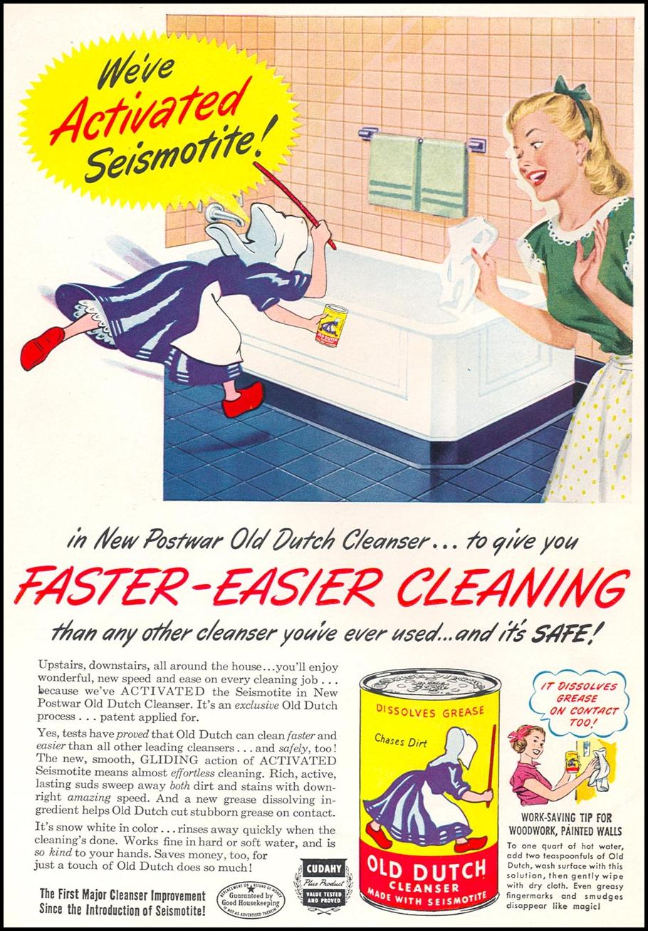 OLD DUTCH CLEANSER WOMAN'S DAY 12/01/1948 BACK COVER
