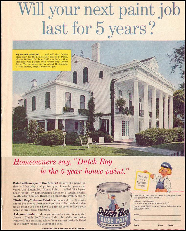 DUTCH BOY HOUSE PAINT LOOK 09/16/1958 p. 43