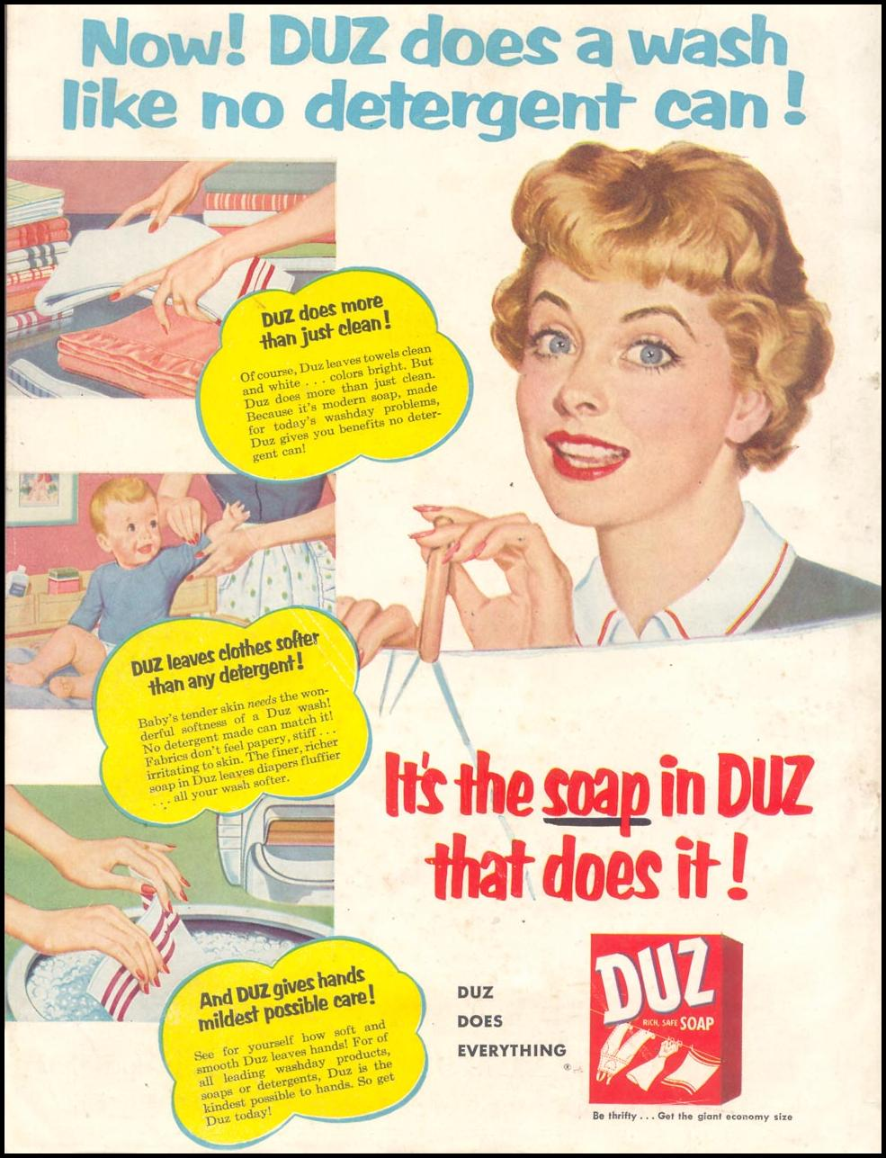 DUZ WOMAN'S DAY 03/01/1954 BACK COVER