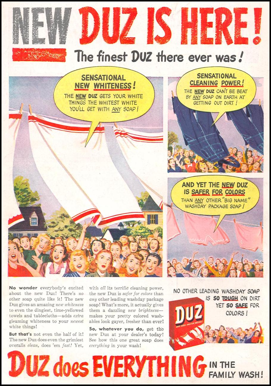 DUZ WOMAN'S DAY 10/01/1948 BACK COVER