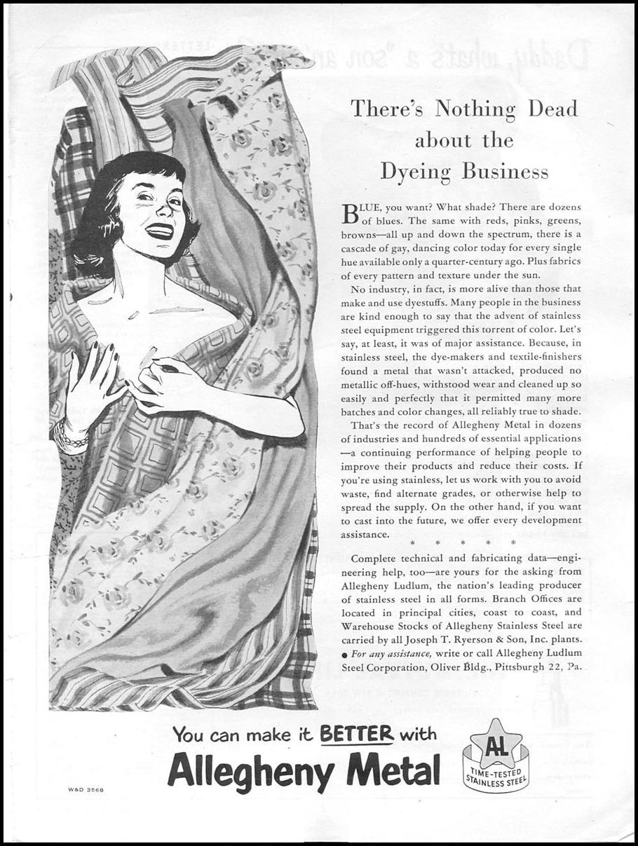 ALLEGHENY STAINLESS STEEL NEWSWEEK 08/20/1951 p. 1
