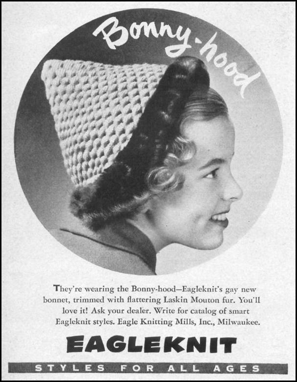 BONNY-HOOD BONNETS LIFE 10/11/1948 p. 78