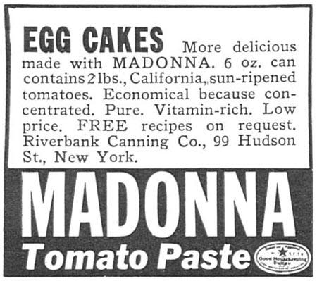 MADONNA TOMATO PASTE WOMAN'S DAY 05/01/1940 p. 56