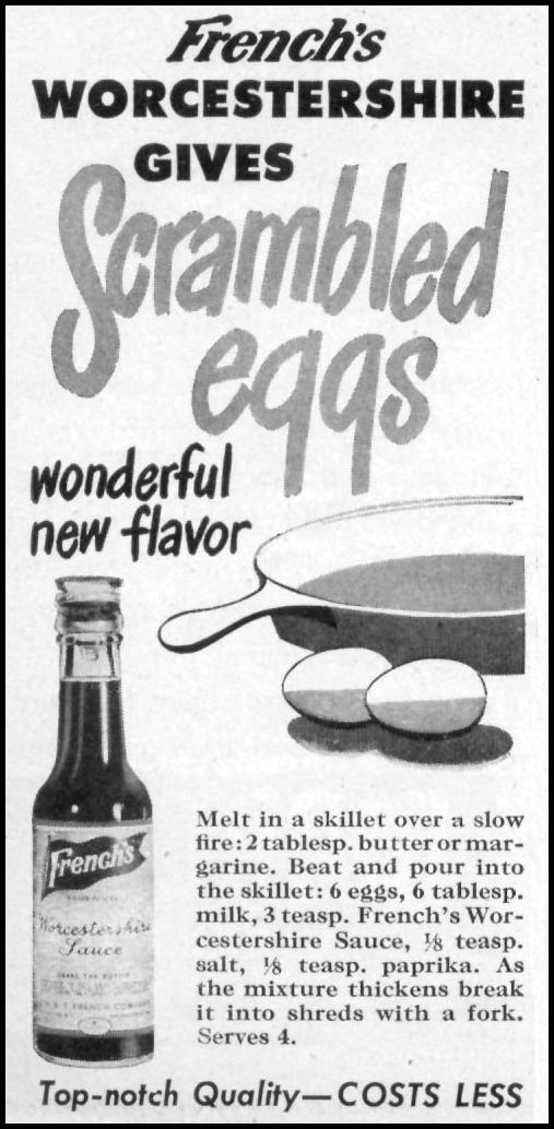 FRENCH'S WORCESTERSHIRE SAUCE WOMAN'S DAY 05/01/1947 p. 122