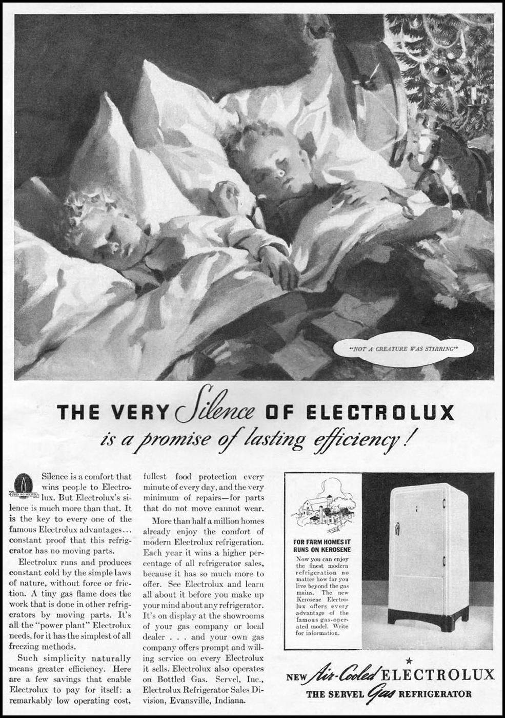 ELECTROLUX REFRIGERATORS GOOD HOUSEKEEPING 12/01/1935 p. 13