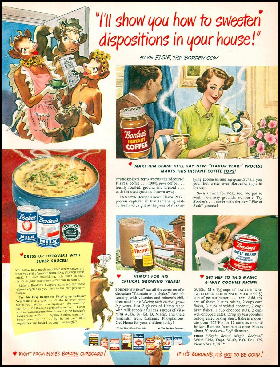 BORDEN'S INSTANT COFFEE WOMAN'S DAY 04/01/1949