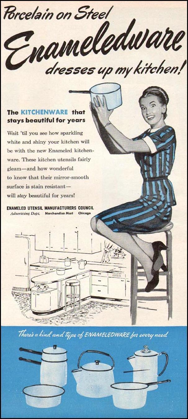 ENAMELED KITCHENWARE WOMAN'S DAY 01/01/1947 p. 8