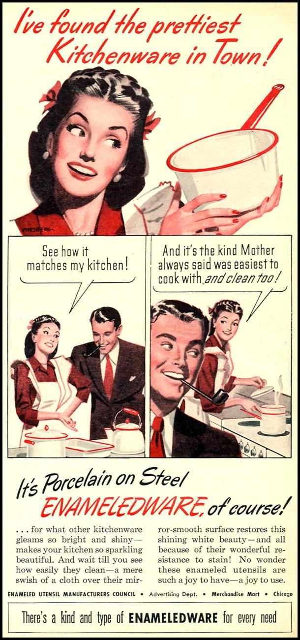 ENAMELED KITCHENWARE WOMAN'S DAY 11/01/1946 p. 71