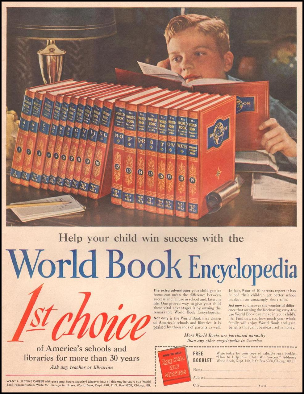 WORLD BOOK ENCYCLOPEDIA LIFE 10/01/1951